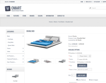 Omart - Mobile Ready Oscommerce Theme