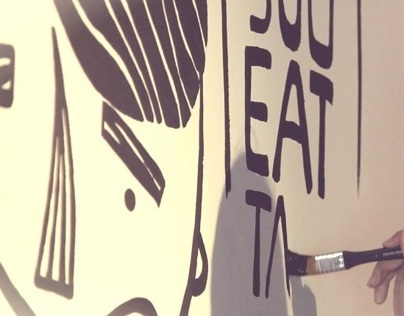 Mural Art for iCook Italian Gastronomia