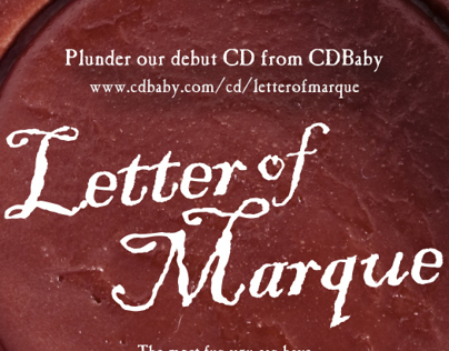 Letter of Marque CD Packaging & Print Ad