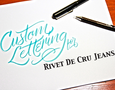 Lettering for Rivet de Cru Jeans