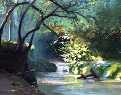 Digital Paintings/light & color studies