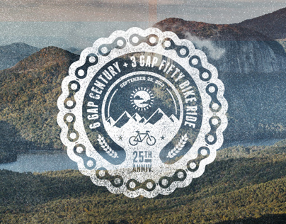 Cycle North Georgia's Six Gap T-Shirt Design.