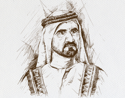 Sketches for GOV. OF UAE  GCAA Annualbook