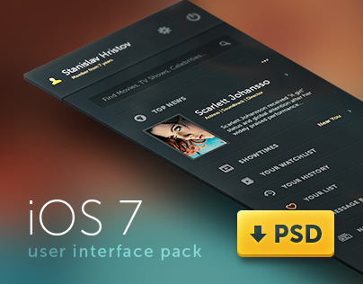 iOS 7 User Interface Pack