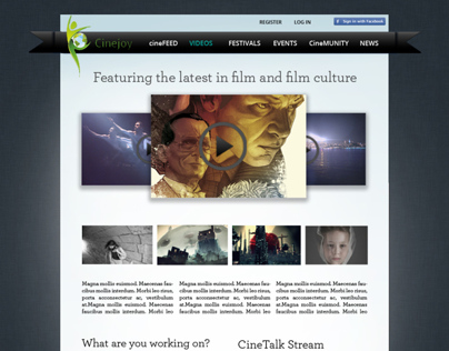 Cinejoy Web Design