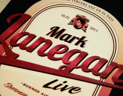 Mark Lanegan Poster. Coaster & Pressbook