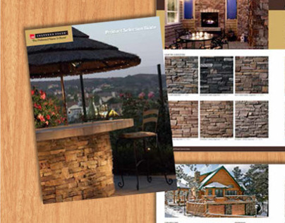 Owens Corning Cultured Stone idea book and catalog