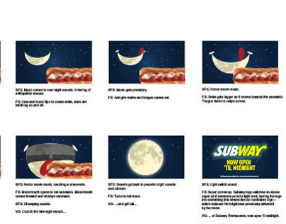 Subway TV spec storyboards