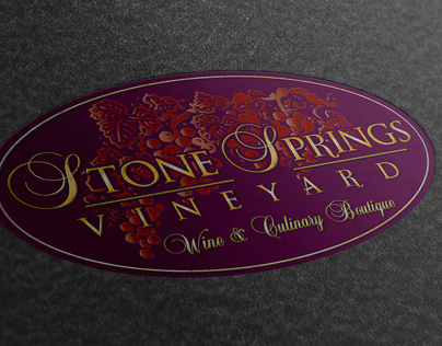 Stone Springs Vineyard + Logo Brand