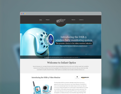 Infant optics website design