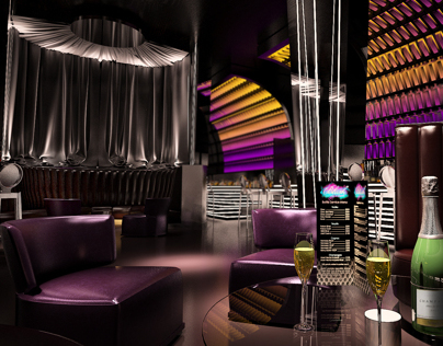 Sochi Marriott Hotels Night club design