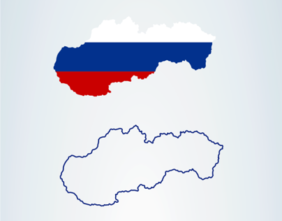 Czech & Slovak vector maps