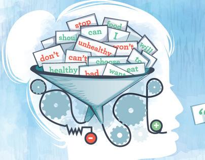 Optimum Wellness Magazine: Editorial Illo on NLP