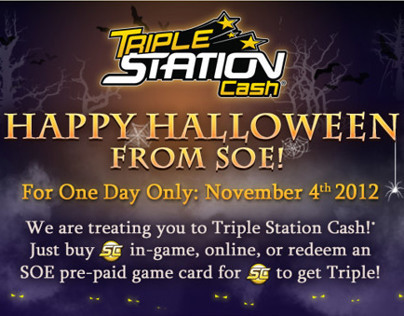 SOE: Halloween Triple Station Cash promotion