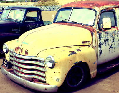 Vintage HotRods on Pendine Beach