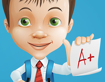 Young Entrepreneur Cartoon Character