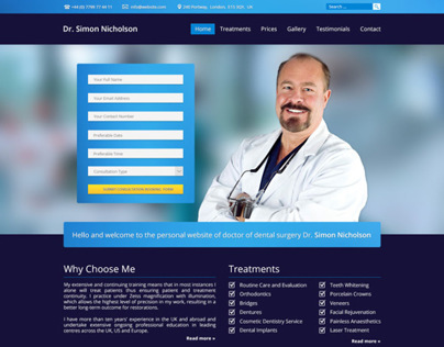 Personal Website of Dr. Simon Nicholson