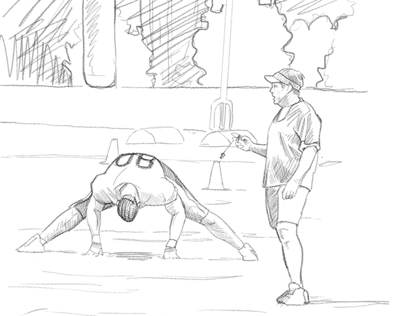 Storyboard for NFL TV Spot Concept