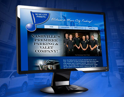 Art Direction & Website Design for musiccityparking.com