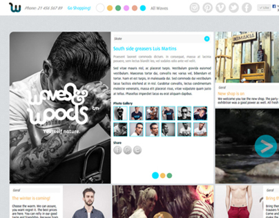 Waves and Woods refresh website