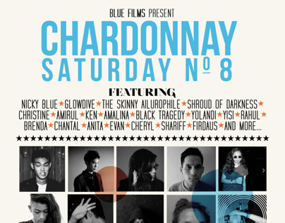 Event Poster Design - Chardonnay Saturday No. 8