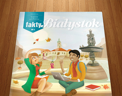 Cover and illustrations for Fakty Białystok