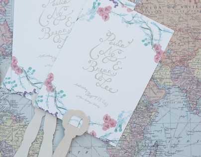 Paula and Bryans Wedding Invitations