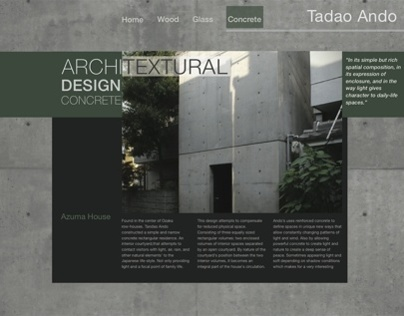 Tadao Ando // Architect Website