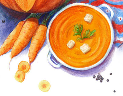 Illustration for Yandex: Pumpkin soup recipe