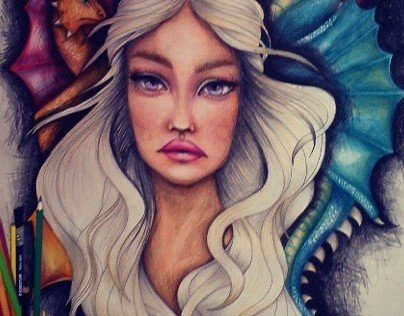 Khaleesi mother of dragons fan art