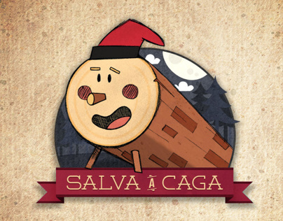 #SalvaACaga - A bizarre Christmas card.