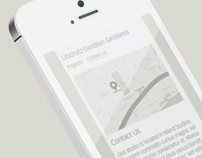 Lifschutz Davidson Sandilands: Web Redesign