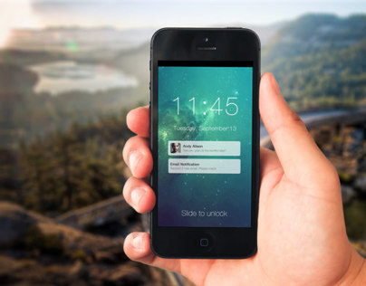 iOS7 Social LockScreen Conpect
