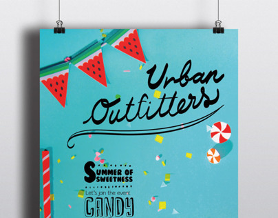 Posters and window display design for Urban Outfitters