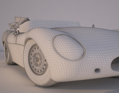 3D Model / Jaguar D-Type Long Nose