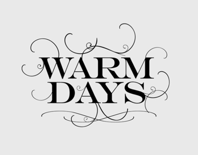 Warm Days — Logo, Release Artwork