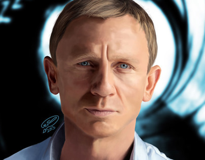 Daniel Craig | Digital Painting