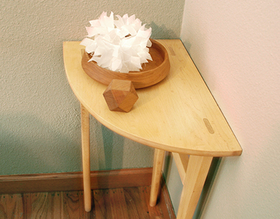 Wooden Corner Table