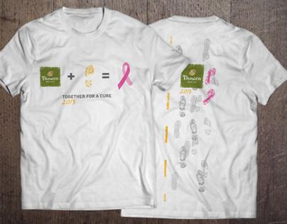 Team Panera Komen Race Shirt