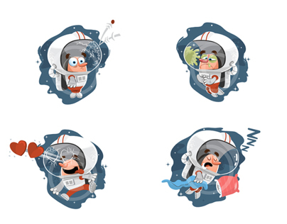 Chat Sticker Illustrations for Couple App