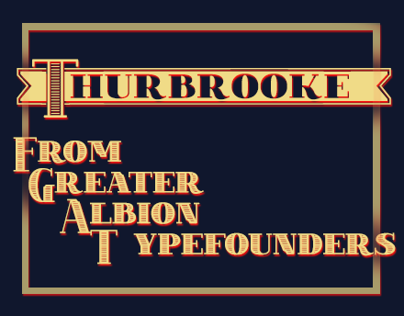 Thurbrooke, Display Roman Typeface Family