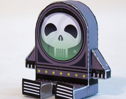 Spook Rocket - Paper Toy