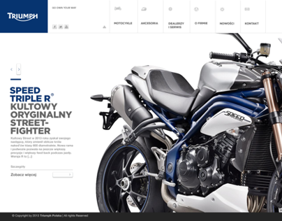 Triumph Website Concept