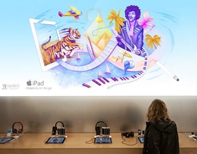 "Apple Ipad / ""Creativity On The Go"" Campaign"