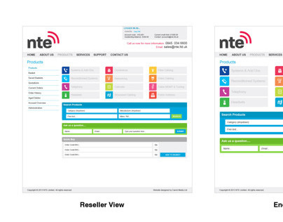 NTE Website Design