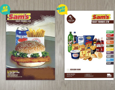 Catalogue for Sams Chicken food brand