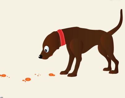 Sniffing - Dog ( Character Illustration )