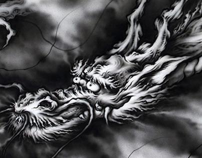Japanese Dragon~airbrush#4