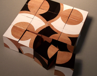 Set of wooden cubes.