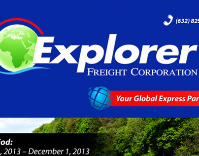 Explorer Freight Corporation Flyer Design